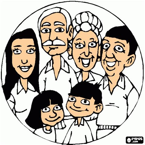 coloring pages of joint family joint family coloring page printable joint family