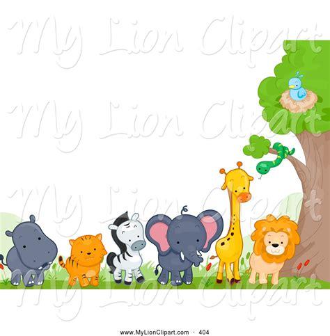 clipart animali zoo animal clipart border clipartsgram