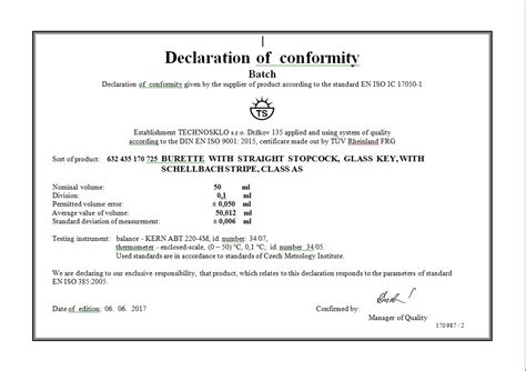 certificate of conformity template batch conformity technosklo ltd