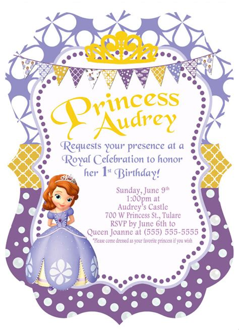 princess sofia template items similar to 5x7 disney princess sofia the