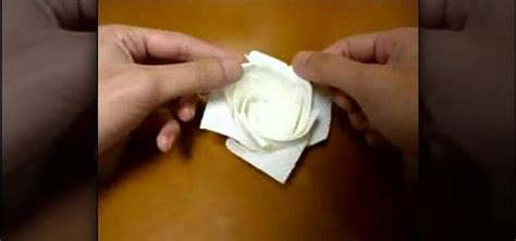Towel Origami Flower - how to origami a with a paper towel 171 origami