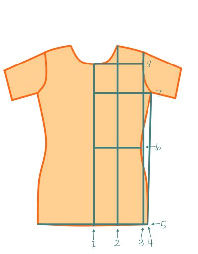 pattern drafting for shirt draft your own basic fitted t shirt pattern mad mim