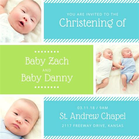 Customize 149 Christening Invitation Templates Online Canva Baby Dedication Card Template