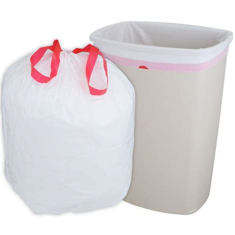 husky 13 gal drawstring kitchen trash bags 300 count