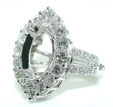 3 ct halo mounting ring setting for marquise 18kw