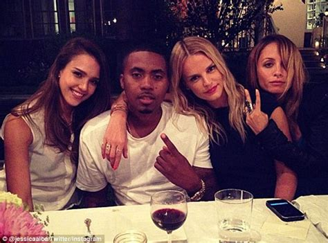 nas daily wife jessica alba tweets picture with nas and nicole richie