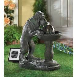 garten springbrunnen solar solar outdoor water fountains thirsty garden