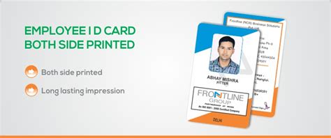 how to make employee id cards ekprint corporate employee id cards side