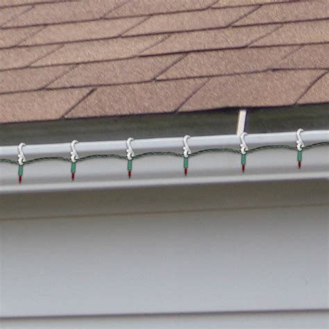 christmas light gutter hangers gutter light 24 pack