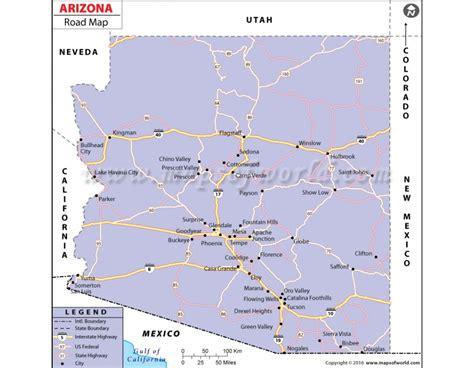 arizona highway map pdf buy arizona road map