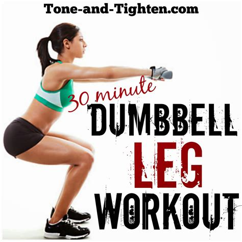 30 minute dumbbell leg workout best free weight