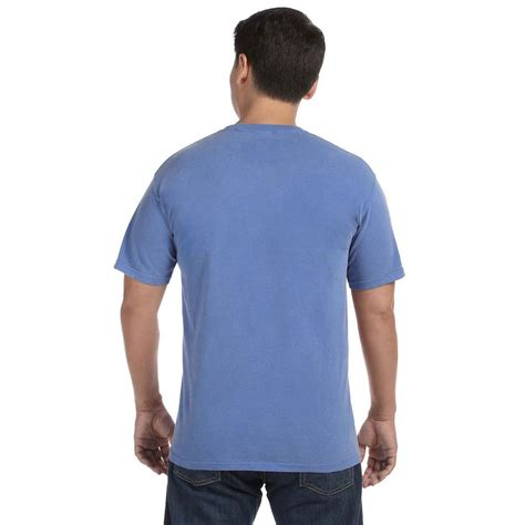 comfort colors flo blue comfort colors men s flo blue 6 1 oz t shirt