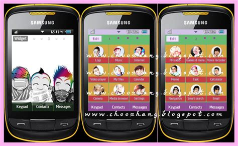 samsung kpop themes download girl generation theme for samsung corby 2
