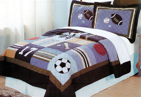 sports bedding full kids sports time bedding for boys full queen quilt set
