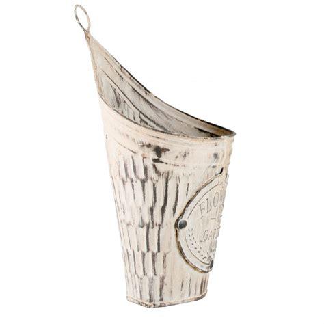 distressed tin wall pocket planter kq994532