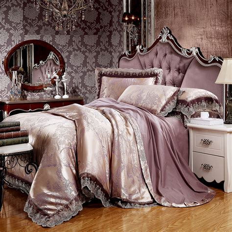 King Size Bedding Set 6 Svetanya Jacquard Bedding Sets 6pc 4pc King Size Duvet Cover Set Silk Cotton Blend Fabric