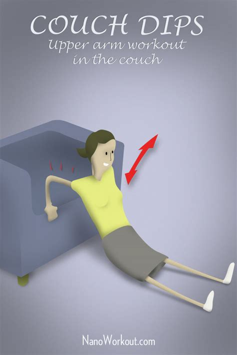 exercises to do on the couch couch dips upper arm workout in the couch