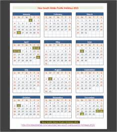 new south wales australia public holidays 2015