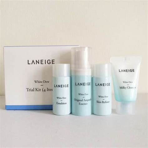 Harga Laneige Trial Kit White Dew set trắng da laneige white plus renew trial kit 4sp