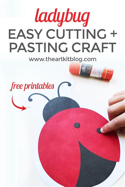 cutting crafts for ladybug cutting and pasting activity for free