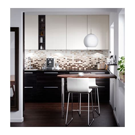 Kitchen Backsplash Dark Cabinets tingsryd door wood effect black 40x80 cm ikea