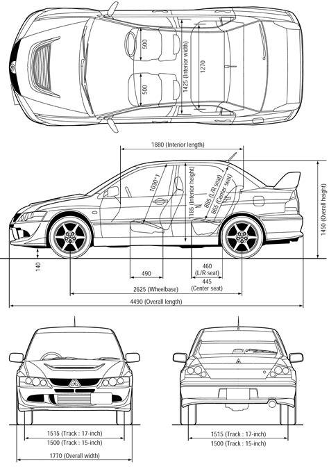 car blueprints mitsubishi lancer evo viii blueprints
