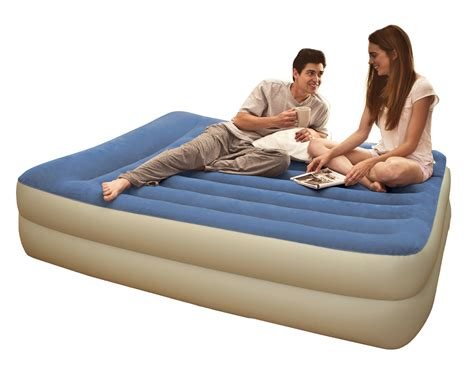 double flocked inflatable bed  pump air bed airbed