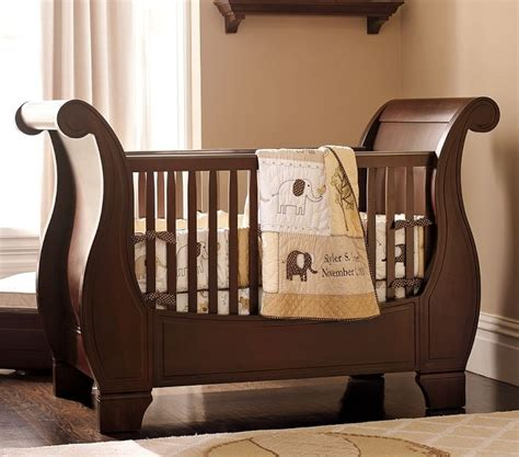 Sleigh Bed Crib Sleigh Crib From Pottery Barn One Day Pinterest