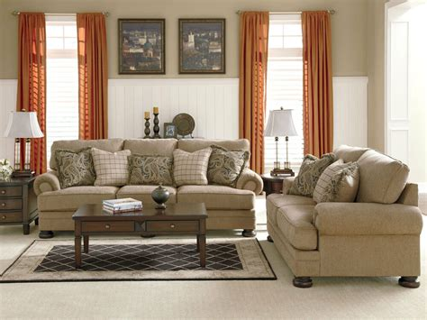 Large Couches by Joyce Traditional Oversized Chenille Sofa Set