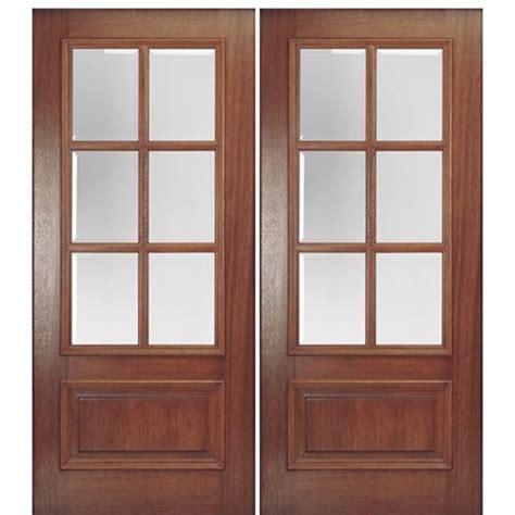 Door Bottoms For Exterior Doors Mai Doors Dd6l 2 Delta True Divided Lite 6 Lite Panel Bottom Mahogany Exterior Door