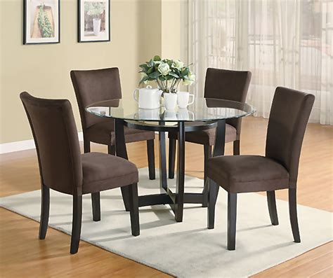 Dining Room Chair Set | modern round dining room set with brown chairs casual