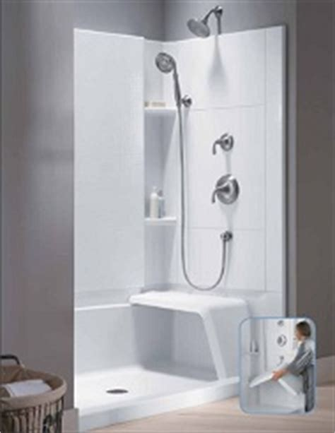 Sterling Walk In Shower by Sterling Accord 174 Complete Seated Walk In Shower Northtowns Remodeling Corp