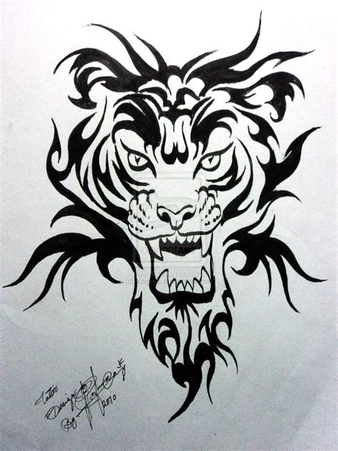 free tiger tattoo designs tiger design by xagros on deviantart