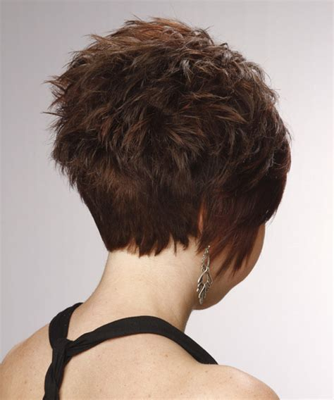 front side backiews of shorthair styles short straight formal hairstyle with side swept bangs