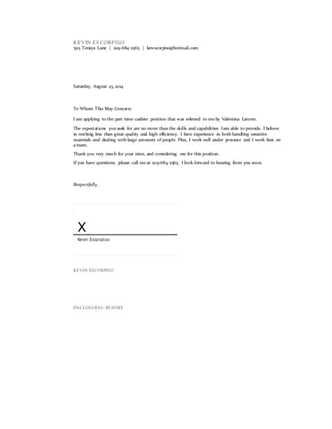 how to enclose resume to cover letter cover letter with enclosures