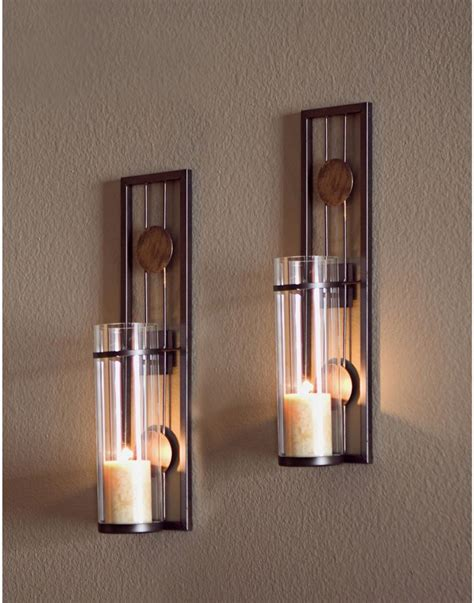 Metal Wall Sconces Candle Holders metal sconce set wall decoration contemporary candle holder iron home ebay