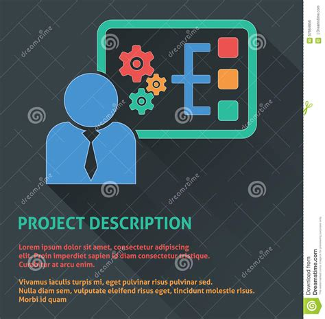 project management icon project description icon stock vector image 57664856