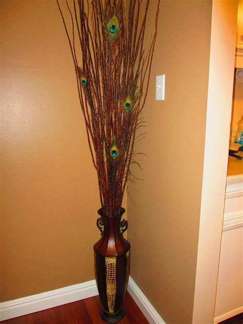 Large Vase With Sticks by Floor Vase Sticks Peacock Features Inspired