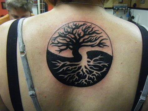 tree yin yang search tattoos