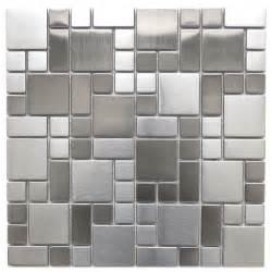 modern mosaic tile backsplash mosaic tile modern cobble pattern stainless steel