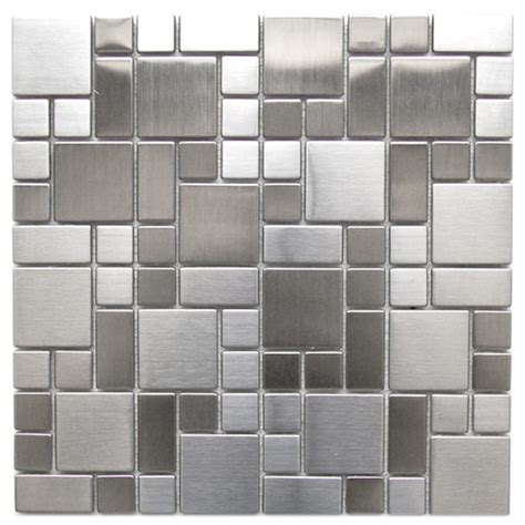 Kitchen Collection Free Shipping eden mosaic tile modern cobble pattern stainless steel