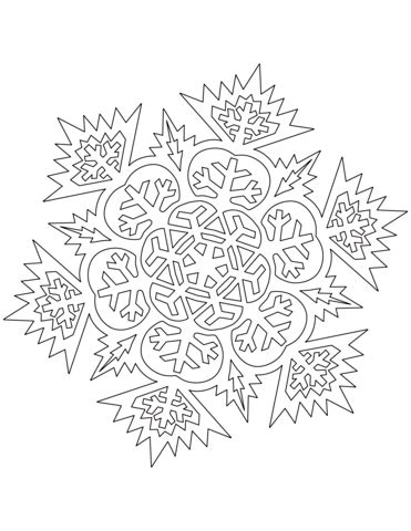 advanced snowflake coloring pages advanced snowflake coloring page free printable coloring
