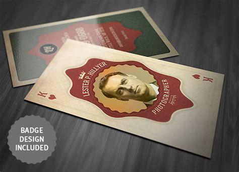 desain kartu nama retro 10 desain template kartu nama gratis