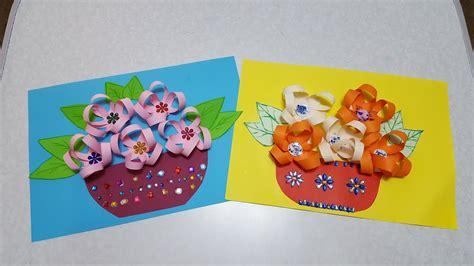 Basteln Mit Buntpapier by Die Vase Mit Blumen Basteln Mit Buntpapier