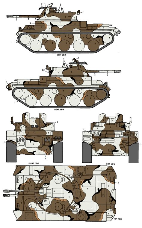 m42 duster merdc snow w open terrain camouflage color profile and paint guide