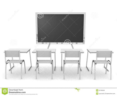 3d render of an empty classroom stock images image 23799594
