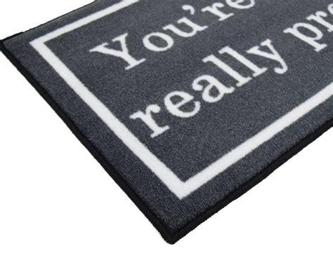 Gray Welcome Mat 2 X 3 You Re Like Really Pretty Doormat Floormatshop