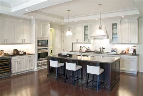 Vancouver Kitchen Cabinets Ascot Glazed Oyster And Blackened Cocoa Cherry Traditional Kitchen Cabinetry Vancouver