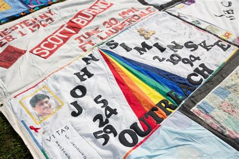 Names Project Aids Memorial Quilt by Photos On Governors Island The Aids Memorial Quilt Is