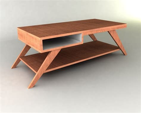 Coffee Table Plans Retro Modern Eames Style Coffee Table Furniture Plan